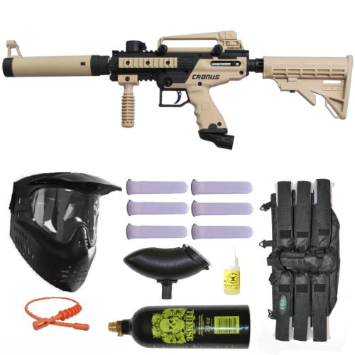 Tippmann Cronus Tactical Paintball Gun 3Skull Mega Set - Tan