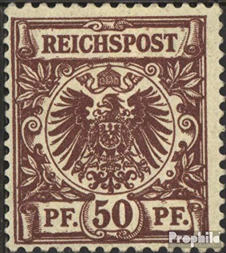 Prophila Collection Deutsches Reich 50d D geprüft, verbreiterte Marke 1889 Ziffernzeichnung/Reichsadler (Briefmarken für Sammler)