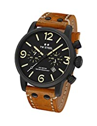 TW Steel Men's MS34 TW Steel Maverick Analog Display Quartz Brown Watch