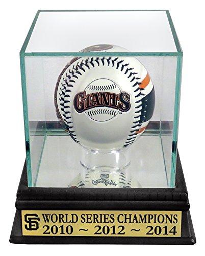 SF Giants 2010-2012-2014 World Series Champion Rawlings Logo Baseball Display (San Francisco Giants Win World Series 2012)