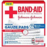 Johnson and Johnson First Aid 3x3 Gauze Pads 25 ct Box - 24 per case.