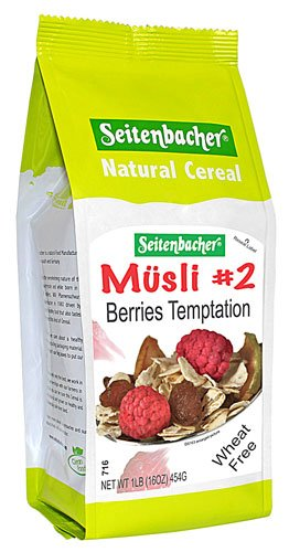 Seitenbacher Muesli #2 Berries Temptation Muesli, 3 pack 16-Ounce bag, made