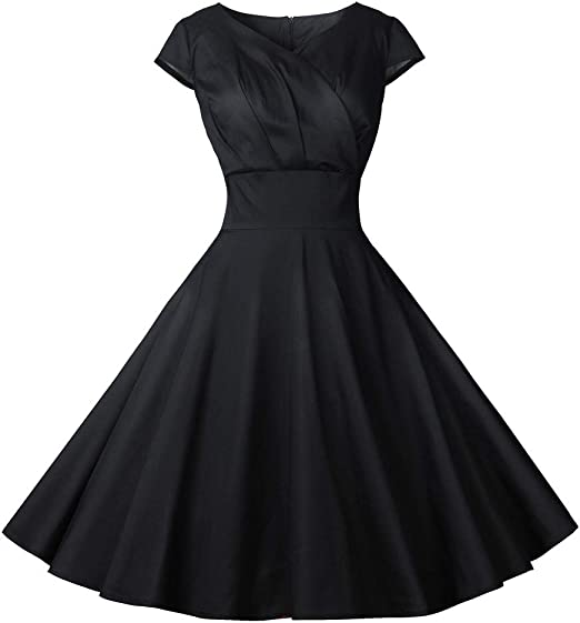 Womens Lady Vintage Long Prom Cocktail Casual Evening Party Swing Dress Oversize