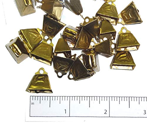 """Used, 1/2"""" Small Cowbell - Gold for sale  Delivered anywhere in USA"""