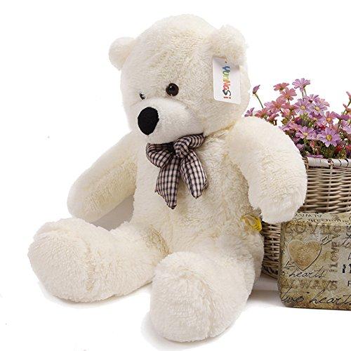 YunNasi suave Teddy oso gigante de peluche juguete de felpa 100 cm blanco: Amazon.es: Juguetes y juegos