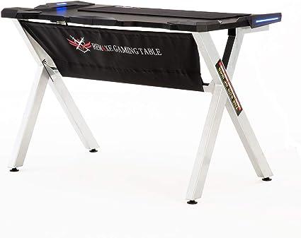 Rosso Remaxe Gaming Desk Scrivania da UfficioTavolo da Gioco,Scrivania per Computer con LED,Struttura in Fibra di Carbonio Desktop