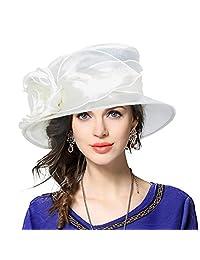 Lady Derby Dress Church Cloche Hat Bucket Wedding Bowler Hats CS065