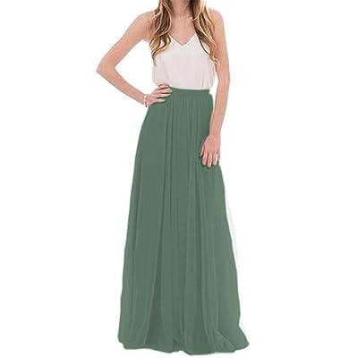 FENGLINZEKANG El Falda Larga de Mujer, Faldas de Tul de Encaje de Dama de Honor (Color : 661, tamaño : 4XL): Hogar