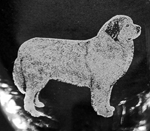 Muddy Creek Reflection Great Pyrenees Dog Laser Etched Glassware Set (2, DOF)
