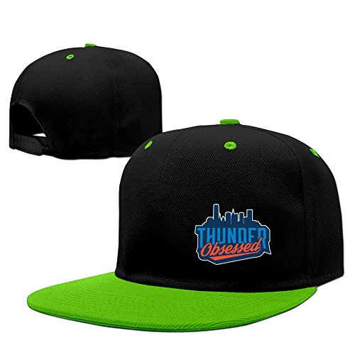 DFHH Thunder Obsessed Creatively Logo Flat Brim Hip-hop Hat Cool