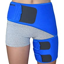 Hip Brace - Compression Groin Support Wrap for Sciatica Pain Relief Thigh Hamstring Quadriceps Injuries Hip Arthritis Joint Pain Hip Flexor Pulled Muscles - Best Sciatic Brace SI belt for Men Women