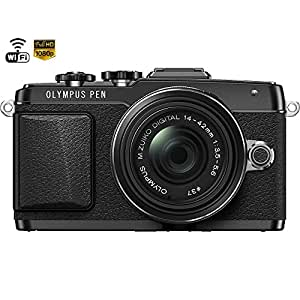 Olympus PEN E-PL7 Micro Four Thirds Digital Camera 14-42mm IIR Lens Black (V205071BU000) - (Certified Refurbished)