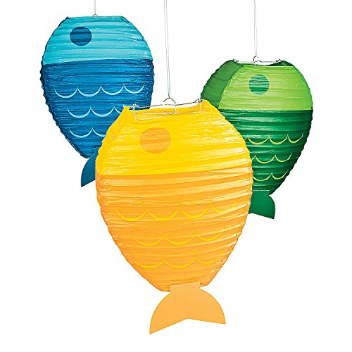 Little Fisherman Hanging Paper Lanterns