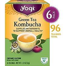 Yogi Tea - Green Tea Kombucha - Supplies Antioxidants - 6 Pack, 96 Tea Bags Total