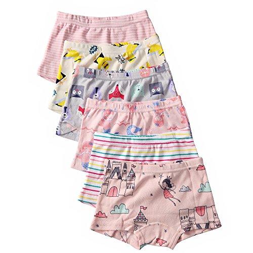 Price comparison product image Benetia Girls Toddler Underwear Soft Cotton 6 -Pack 2T 3T