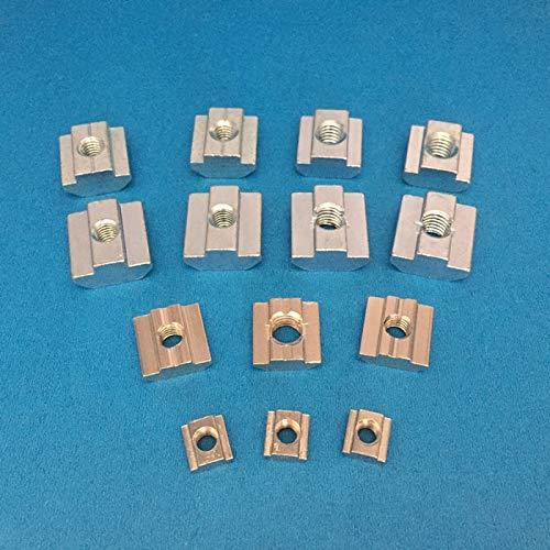 Nuts 20pcs M3 M4 M5 M6 M8 3030 Series Slide Nuts EU Standard Aluminum Accessories Square nut - (Size: M8)