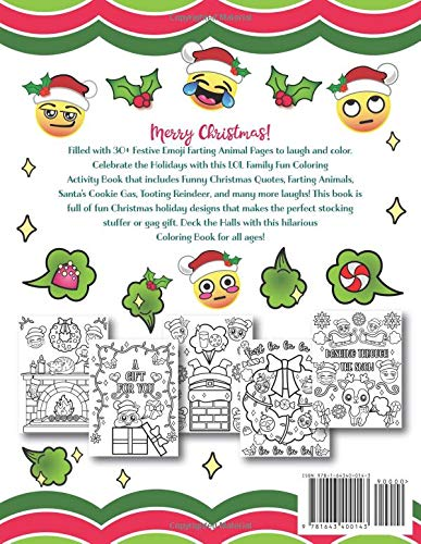 emoji christmas farting animals coloring book nyx spectrum 9781643400143 amazoncom books