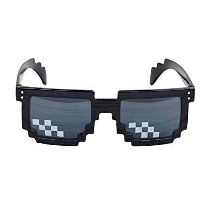 fe70070da Image Unavailable. Image not available for. Color  Bemall Deal with It Glasses  Thug Life Sunglasses ...