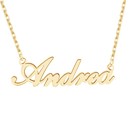 99136470d635c2 Amazon.com: Dreamdecor Name Necklace Personalized, Sterling Silver Custom Nameplate  Necklace Charm Jewelry Gift for Christmas: Jewelry