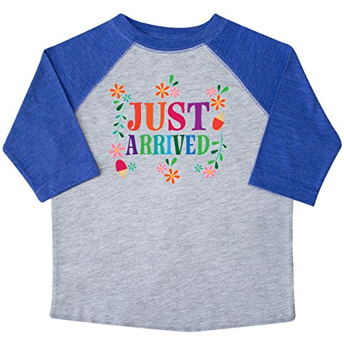 inktastic Just Arrived Baby Girl Toddler T-Shirt 2T Heather and Royal 2d621