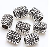 Tube Antique Tibetan Silver Findings Jewelry Making DIY Spacer Beads 100Pcs
