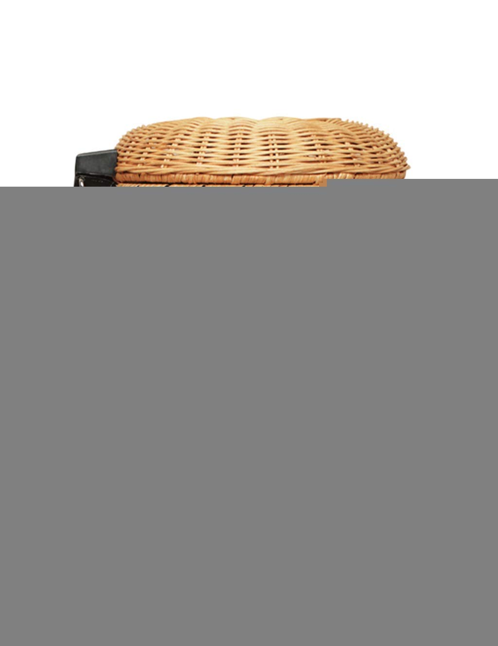 Liex- Creative Trash Can/Rattan Trash Can, Vintage Hand-Woven, Pedal Design, for Living Room Bedroom Hotel (Multi-Size Optional)