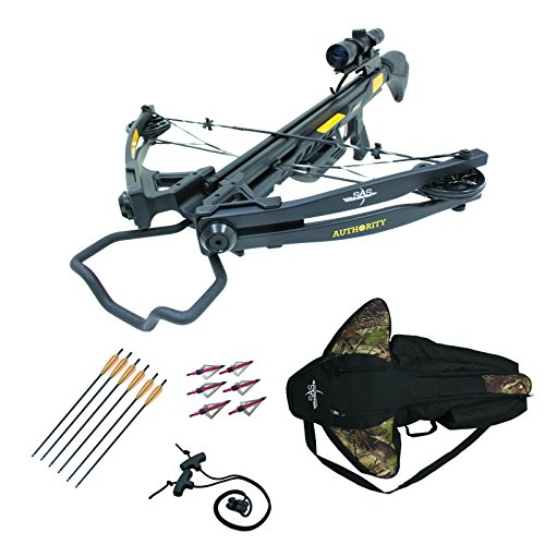 Southland Archery Supply SAS Authoirity 175lbs Compound Crossbow 4x32 Scope Package (Black Pro ()