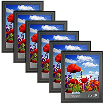 Amazon.com - Icona Bay Black Picture Frames Bulk Set (8 x 10 Inch, 6 ...