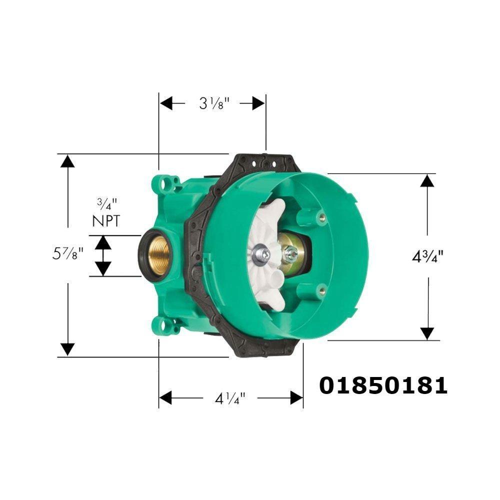 Hansgrohe 04233000, S Pressure Balance Trim With iBox Universal Plus ...