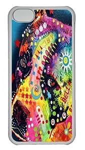 bella pitbull Custom iPhone 5C Case Cover Polycarbonate Transparent