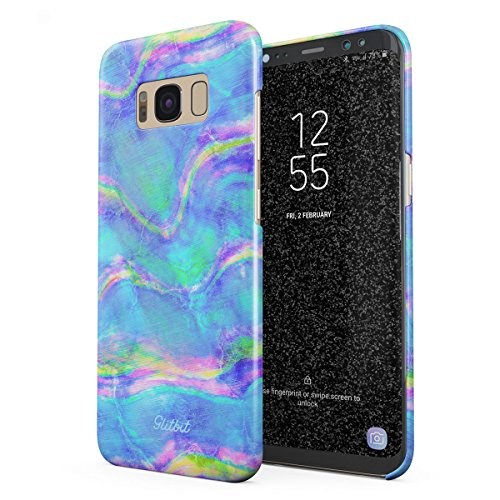 Abalone Iris (Glitbit Compatible with Samsung Galaxy S8 Plus Case Mermaid Paua Abalone Sea Shell Haliotis Iris Holographic Mother of Pearl Cotton Candy Thin Design Durable Hard Shell Plastic Protective Case Cover)