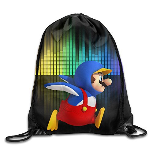 Great Halloween Costumes 2016 For Guys (YYHU Super Mario Drawstring Backpack Bag Sack Bag - Great For Travel And Everyday Life)