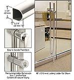 Polished Stainless 84'' Designer Series ''D'' Shape Locking Ladder Pull