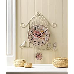 Accent Plus Birdcage Country Rose Wall Clock