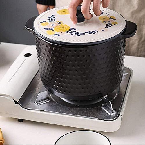ZJZ Casserole Marmite en Céramique Marmite Casserole Ragoût Pot Ménage Gaz en Céramique Résistant À Haute Température 4.0L