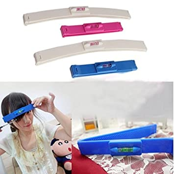 Women Girl Fashion Clipper Fringe Hair Cutting Guide Layer Bang Level Ruler Tool Home Appliances