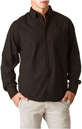 Ruckfield-- Camisa monocolor, talla L, color negro: Amazon.es ...