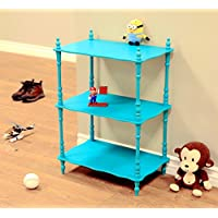 Frenchi Home Furnishing Kids 3-Tier Shelves, Blue
