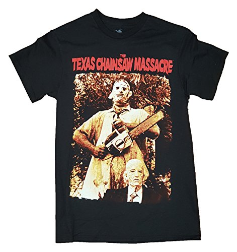 Halloween The Texas Chainsaw Massacre Black Graphic T-Shirt - Large (A Chainsaw For Halloween)