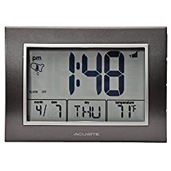 Chaney Instruments AcuRite 13131 Atomic Alarm Clock with Date, Day of Week and Temperature