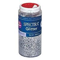 Pacon Spectra Glitter Sparkling Crystals 0091710, 16 Oz. Shaker, Silver