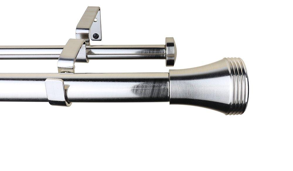 meriville 1インチ直径Ardmore TelescopingダブルウィンドウTreatmentカーテンロッド 48