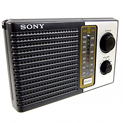 Sony ICF-F10 Two 2 Band FM/AM Portable Battery Transistor Radio by Sony