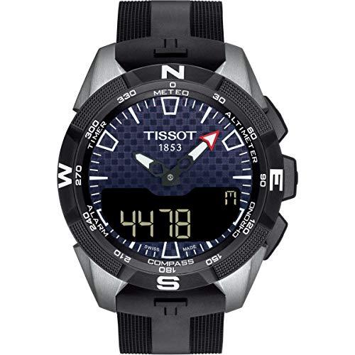 Tissot Mens T-Touch Expert Solar II Mens Silicone Watch Titanium T1104204705101 (Watches Altimeter Tissot)