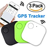 Xenzy 3 Pack Smart GPS Tracker Wireless Bluetooth Key Finder Mini Item Locator Key Anti Lost Alarm for Keychain Pet Dog Cat Wallet Chip Phone Luggage Finder Device Selfie Remote Shutter
