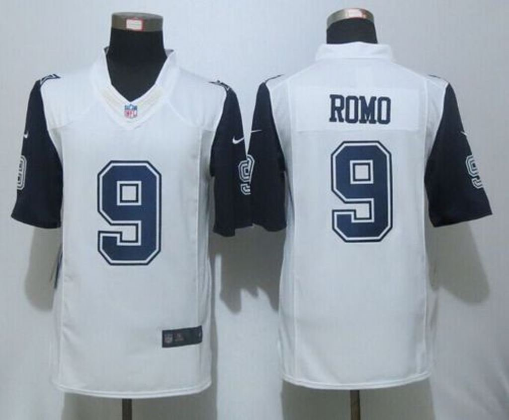 72ab9eec4 Amazon.com   VVV Dallas Cowboys  9 Tony Romo White Rush Size XXL Stitched  Jersey   Sports   Outdoors