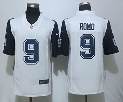 new concept 7b1ca b0983 Amazon.com : VVV Dallas Cowboys #9 Tony Romo White Rush Size ...
