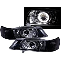 CrazyTheGod La Great RL1 Second generation 1999-2004 SUV 5D CCFL Projector Headlight Headlamp Black for HONDA LHD
