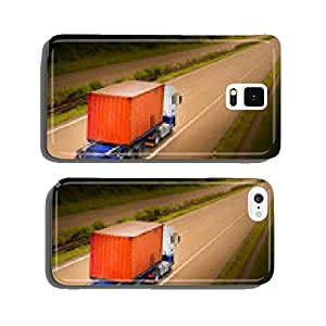 Container truck on the highway. cell phone cover case iPhone6 Plus