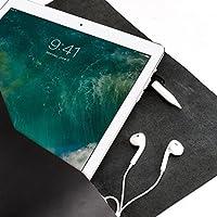 Funda De Piel Negra Para Nuevo iPad 9.7, Pro 10.5 & Pro 12.9 Pulgadas, Estuche Con Bolsillo Para Lápiz De Apple, Regalos Con Monograma Personalizados Para Hombre//DRAFTSMAN 1 NEGRO